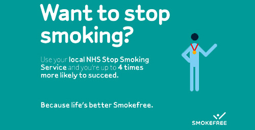 Want to stop smoking. Use your local NHS Stop Smoking service